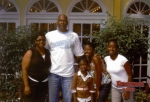 7-7-2007 - Tasha Genes Moore and her husband Wayne, daughters: Jae'Briona and Zazshyra, and their niece - Tasha is the