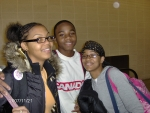 Children of Tre' and Deidra Bryant-Aisha, Ricky and Ebony at Boston Airport enroute to Thanksgiving Family Garthering i