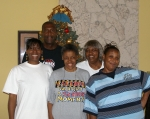Family Group Shot Christmas 2007 at Huck's home - Shawn Pope, Carmelita 'Huck' Wallace Wilder, Net Pope, Rosa Lee 'S