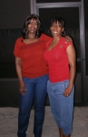 Christmas Eve 2007 - Rica Wallace and Carmelita 'Huck' Wallace Wilder - children of Rosa Lee 'Sweetie' Wallace, gran