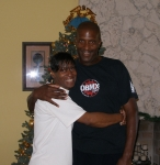 Christmas 2007 - Shawn Pope & Carmelita 'Huck' Wallace Wilder - grandchildren of Arthur Lee Capel, great-grandchildren