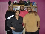 Karen Bryant Miller, her sons: Dominique, Jovan, and Dante` Miller - daughter and grandsons of Robert Bryant, Jr., grand