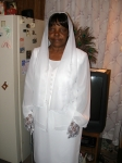 Mary Singleton prior to the funeral - daughter of the late Louise Bryant & Nathaniel Singleton