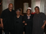 Robert L. Bryant, Jr., Aunt T, Lil Sis, Lula Bryant at Louise Singleton's home prior to the funeral.