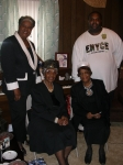 Paulette Quinn Walker (daughter of Gladys Milner & granddaughter of George Bryant), Aunt T, Lil Sis, Reggie Newsome (son
